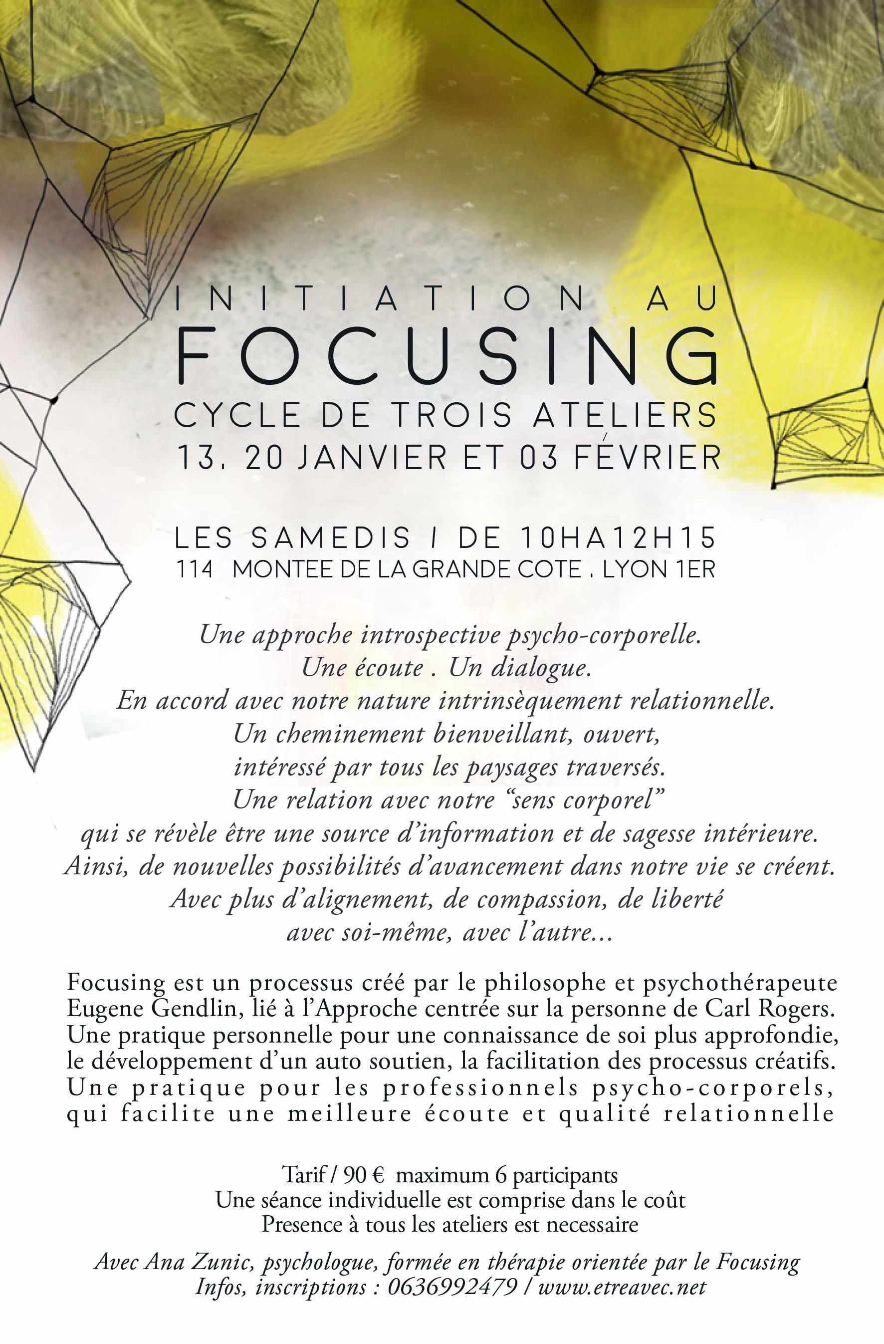 ateliers du Focusing à Lyon